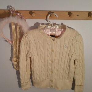 Ralph Lauren Size 24 Months Solid White Sweater